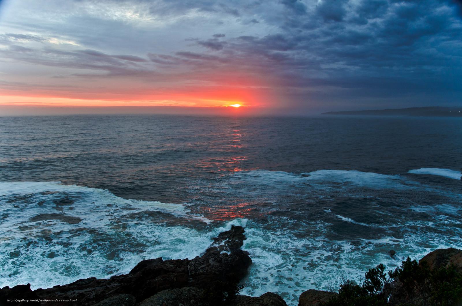 Download wallpaper sunset,  sea,  waves,  landscape free desktop wallpaper in the resolution 4928x3264 — picture №655900