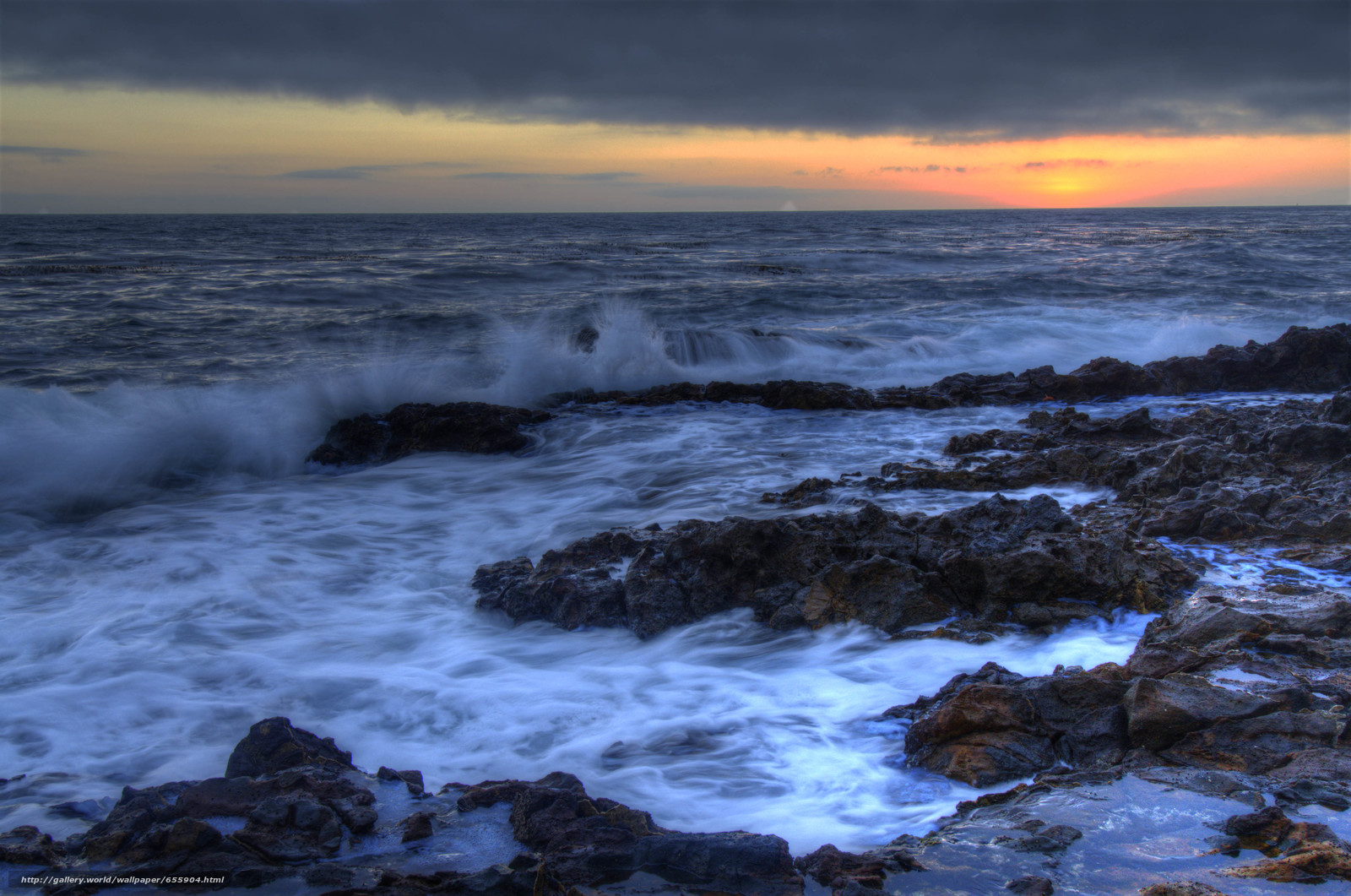 Descargar gratis puesta del sol,  mar,  ondas,  paisaje Fondos de escritorio en la resolucin 4942x3278 — imagen №655904