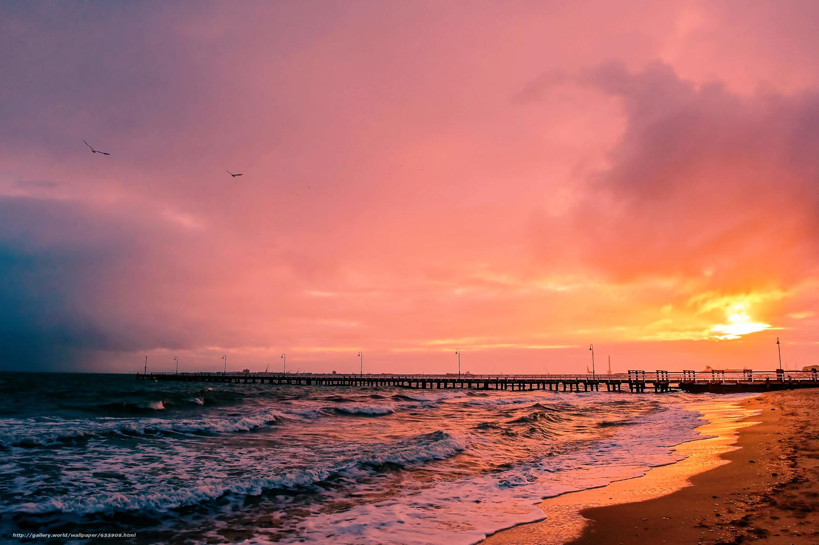 scaricare gli sfondi tramonto,  mare,  onde,  paesaggio Sfondi gratis per la risoluzione del desktop 4796x3192 — immagine №655908
