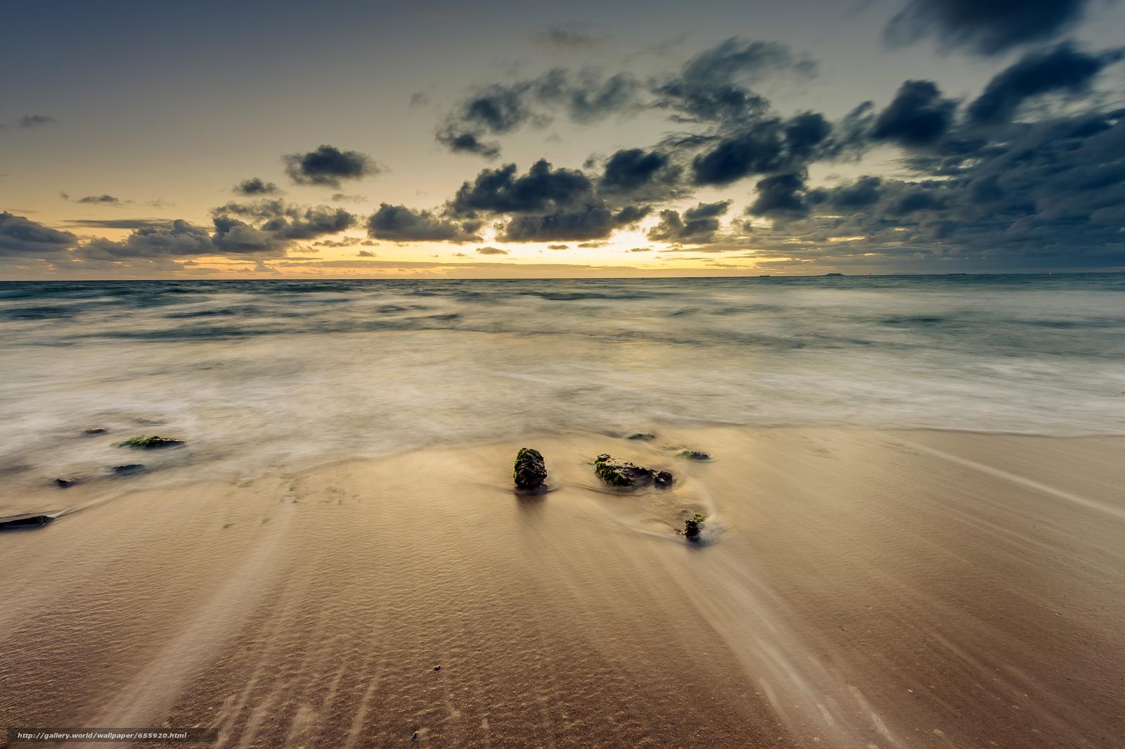 下载壁纸 日落,  海,  波浪,  景观 免费为您的桌面分辨率的壁纸 4928x3280 — 图片 №655920