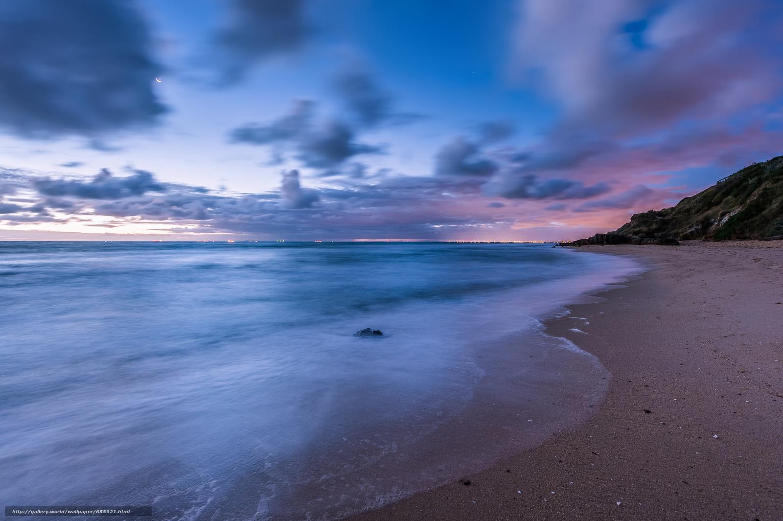 Descargar gratis puesta del sol,  mar,  ondas,  paisaje Fondos de escritorio en la resolucin 4742x3156 — imagen №655921