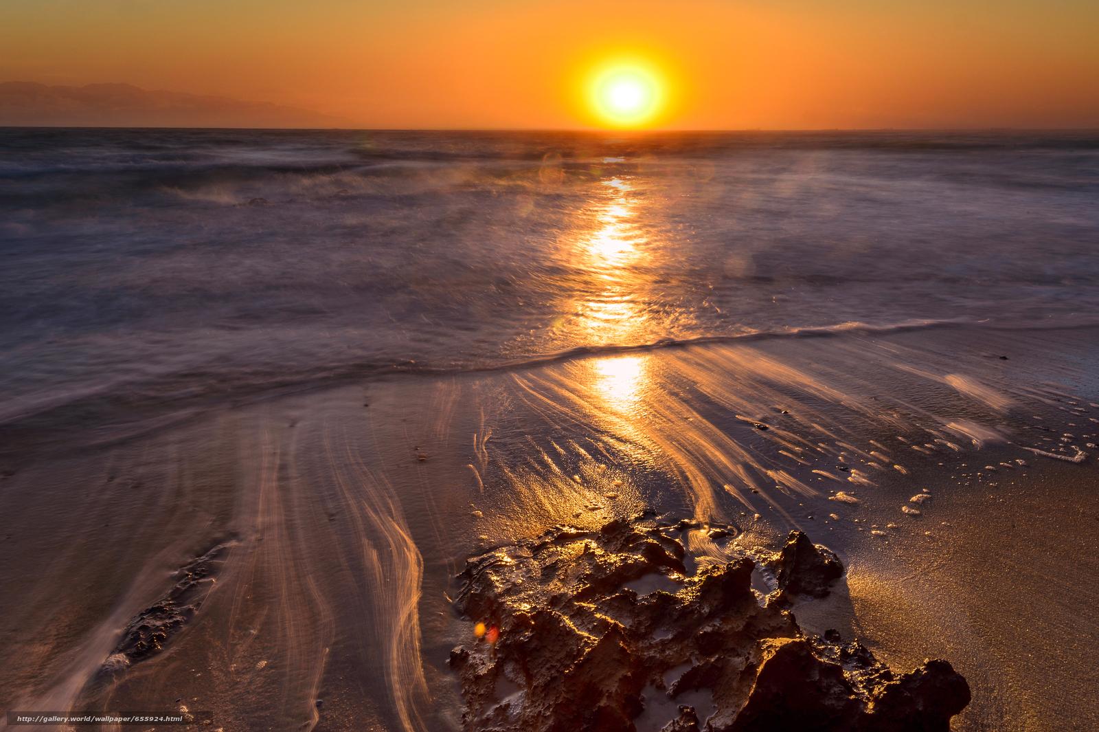 壁紙をダウンロード 日没,  海,  波浪,  風景 デスクトップの解像度のための無料壁紙 4838x3220 — 絵 №655924
