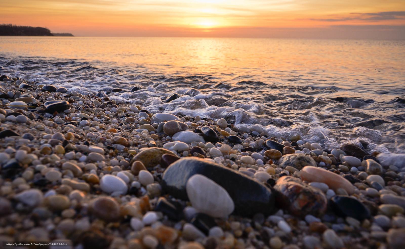 Download wallpaper sunset,  sea,  waves,  landscape free desktop wallpaper in the resolution 4779x2949 — picture №655932