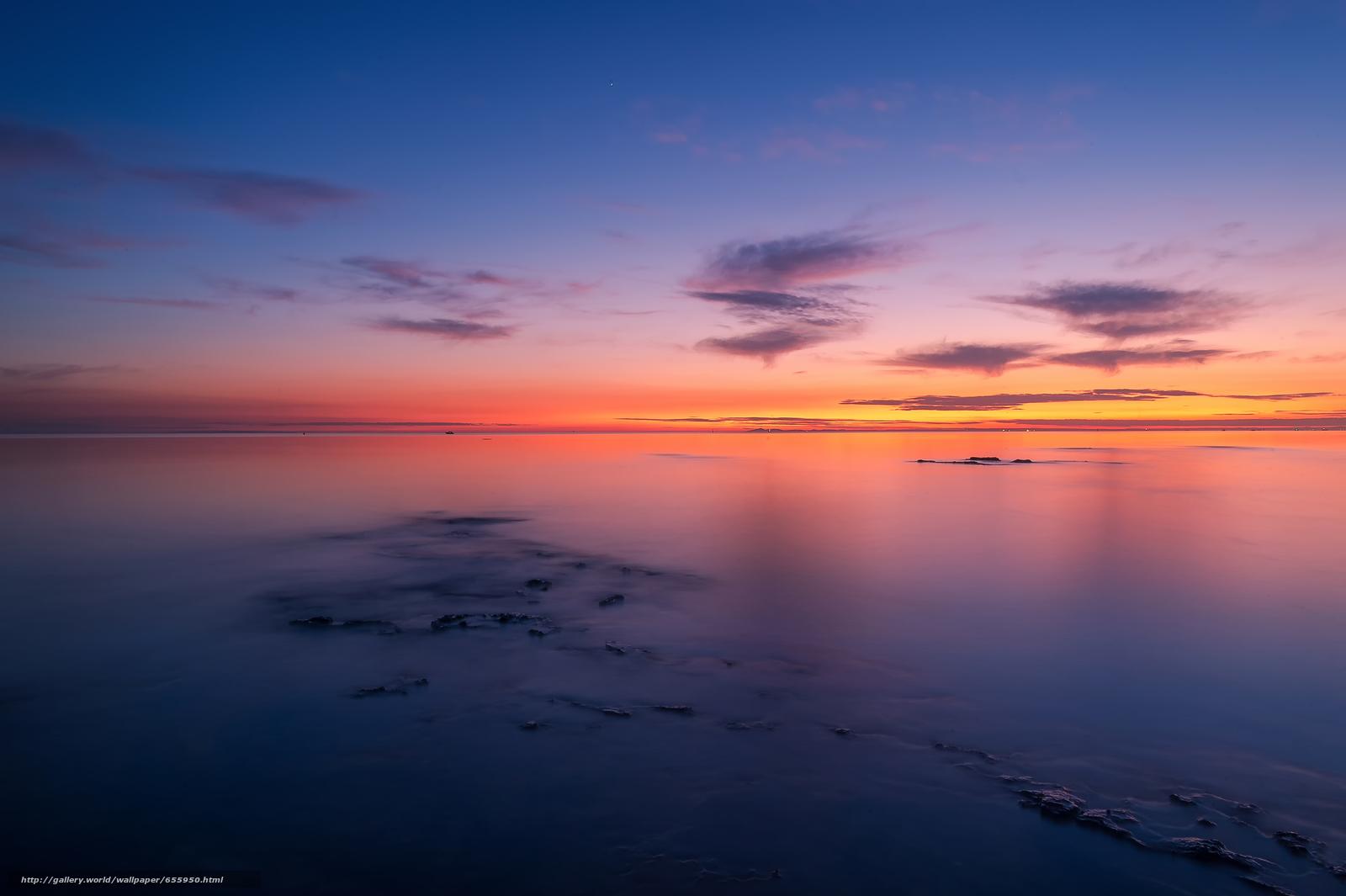 Descargar gratis puesta del sol,  mar,  ondas,  paisaje Fondos de escritorio en la resolucin 4928x3280 — imagen №655950