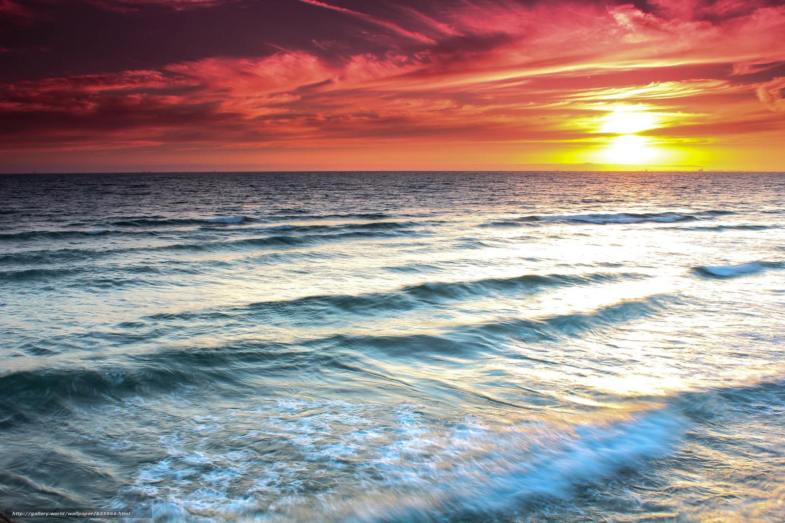 descarca imagini de fundal apus de soare,  mare,  valuri,  peisaj Imagini de fundal gratuite pentru rezoluia desktop 5184x3456 — imagine №655966