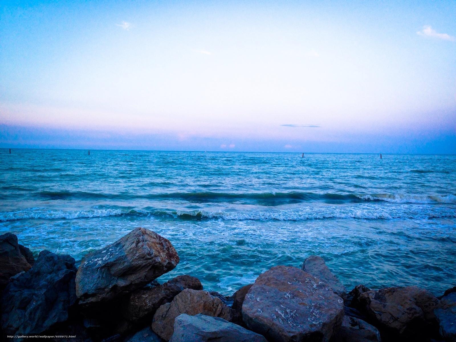 scaricare gli sfondi tramonto,  mare,  onde,  paesaggio Sfondi gratis per la risoluzione del desktop 2048x1536 — immagine №655971