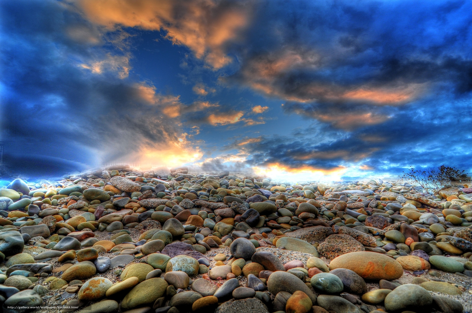 Download wallpaper shore,  stones,  sky,  landscape free desktop wallpaper in the resolution 2000x1325 — picture №655985