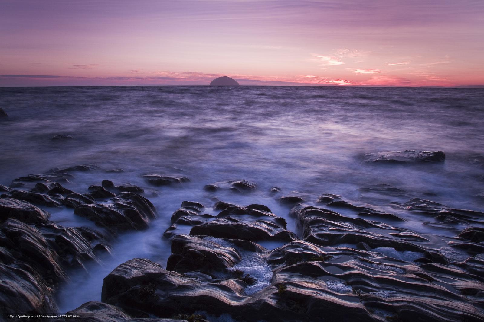 Download wallpaper sunset,  sea,  waves,  landscape free desktop wallpaper in the resolution 5076x3384 — picture №655992