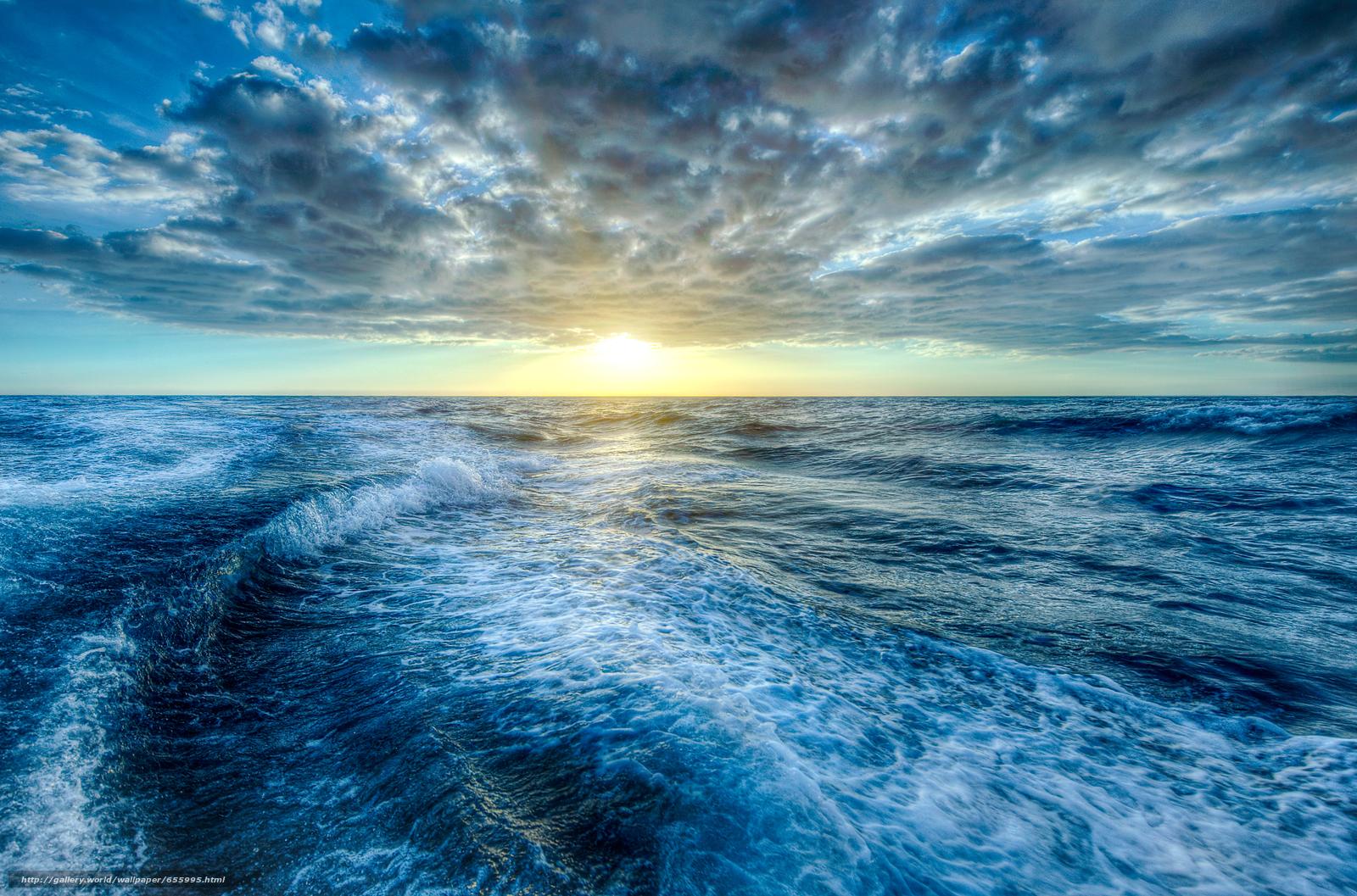 Download wallpaper sunset,  sea,  waves,  landscape free desktop wallpaper in the resolution 3941x2603 — picture №655995