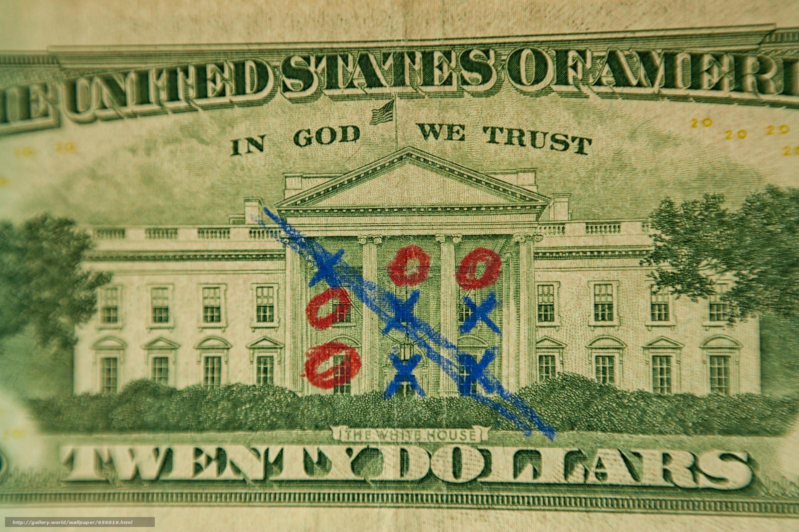 Скачать обои доллары,  купюра,  крестики-нолики,  игра бесплатно для рабочего стола в разрешении 3968x2640 — картинка №656019