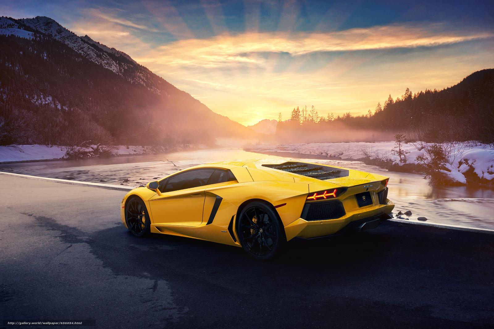 Скачать обои Lamborghini,  машина,  автомобиль бесплатно для рабочего стола в разрешении 2048x1365 — картинка №656054