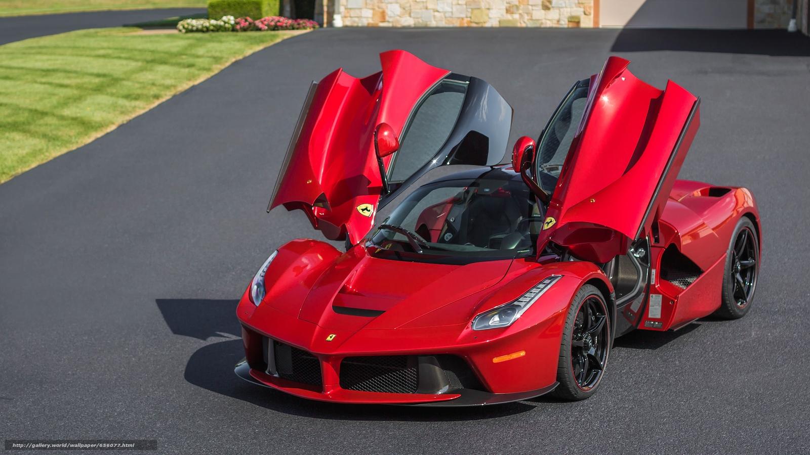 Скачать обои Ferrari LaFerrari,  Ferrari,  LaFerrari,  sports car бесплатно для рабочего стола в разрешении 3752x2110 — картинка №656077