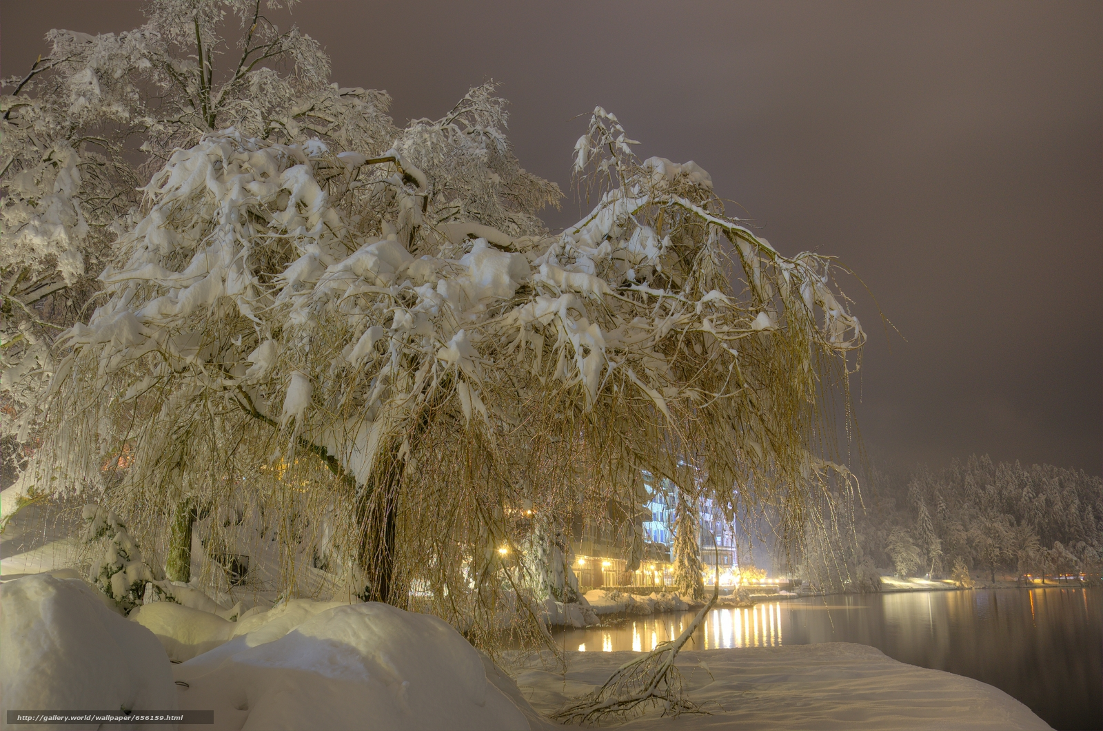Tlcharger Fond d'ecran hiver,  neige,  arbres,  rivière Fonds d'ecran gratuits pour votre rsolution du bureau 4947x3279 — image №656159