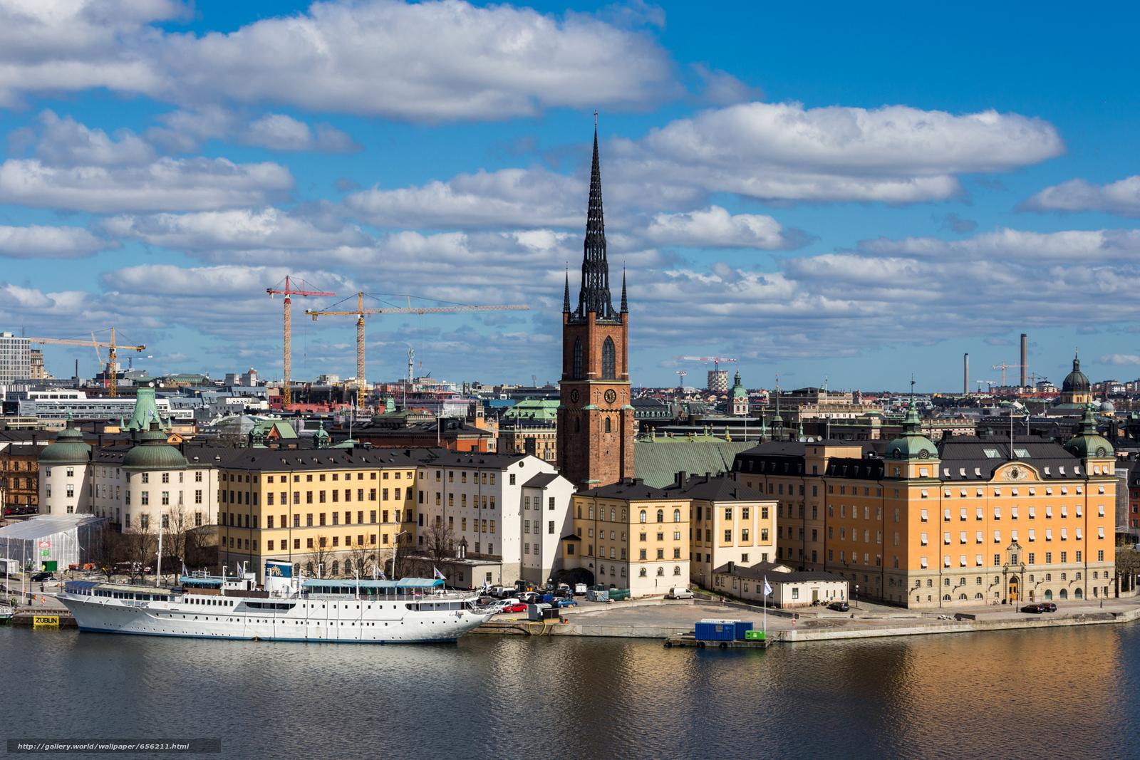scaricare gli sfondi Stoccolma,  Svezia,  città Sfondi gratis per la risoluzione del desktop 1920x1280 — immagine №656211
