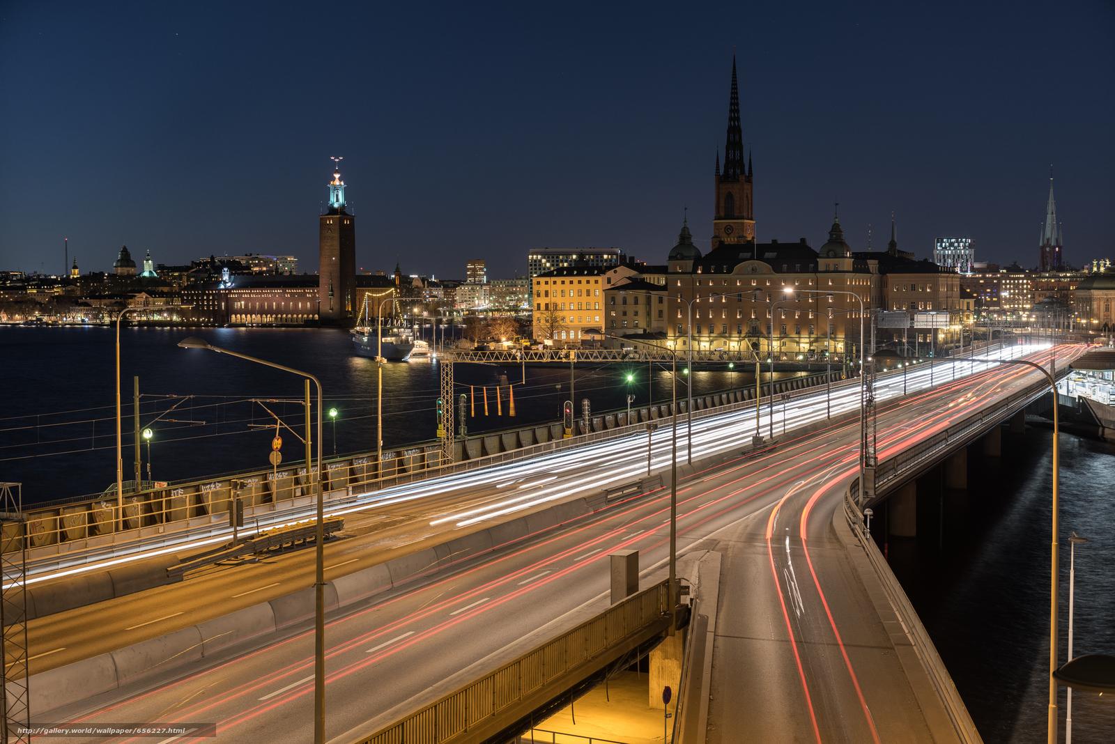 pobra tapety Sztokholm,  Szwecja,  miasto,  noc Darmowe tapety na pulpit rozdzielczoci 7360x4912 — zdjcie №656227