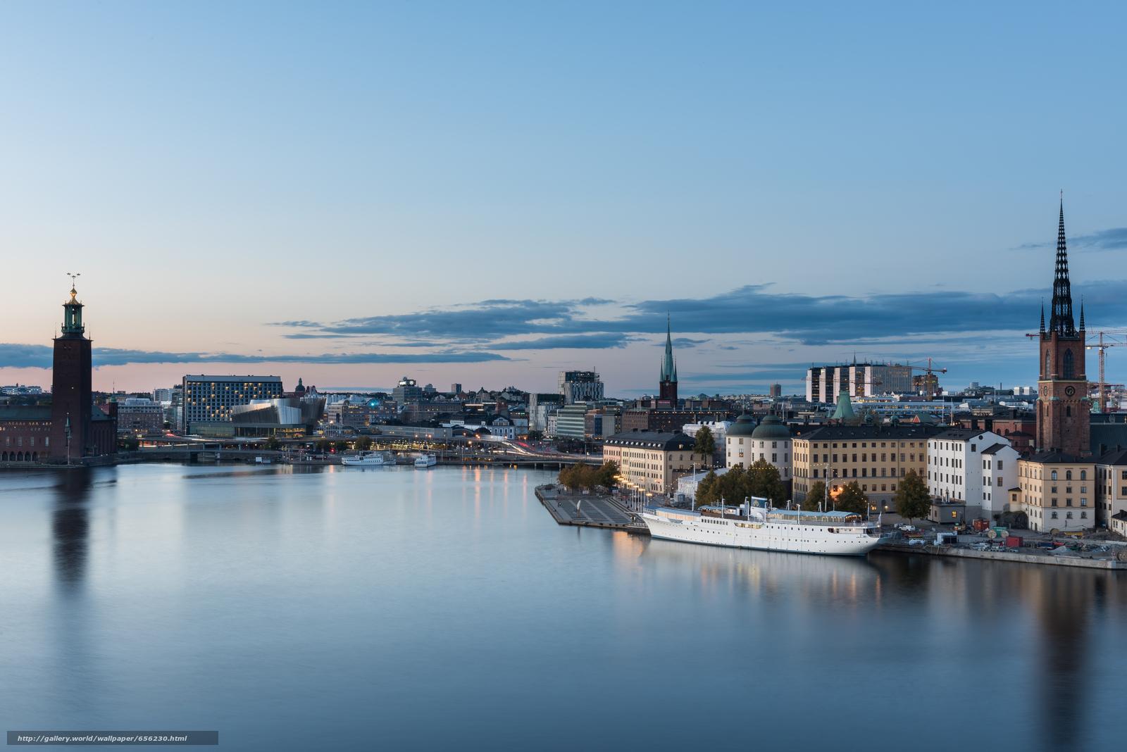 pobra tapety Sztokholm,  Szwecja,  miasto Darmowe tapety na pulpit rozdzielczoci 7360x4912 — zdjcie №656230