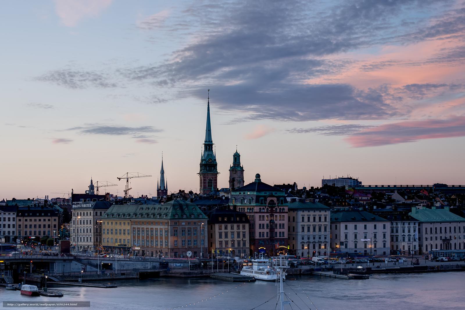 scaricare gli sfondi Stoccolma,  Svezia,  città Sfondi gratis per la risoluzione del desktop 7370x4919 — immagine №656244