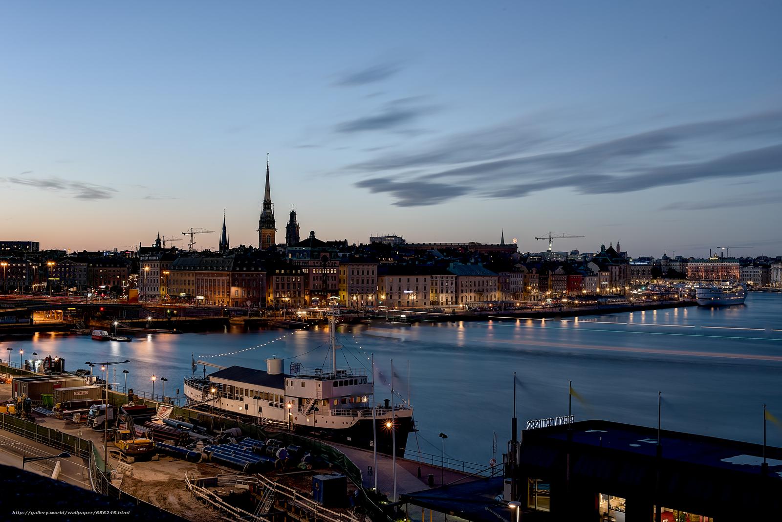 scaricare gli sfondi Stoccolma,  Svezia,  città Sfondi gratis per la risoluzione del desktop 7372x4920 — immagine №656245