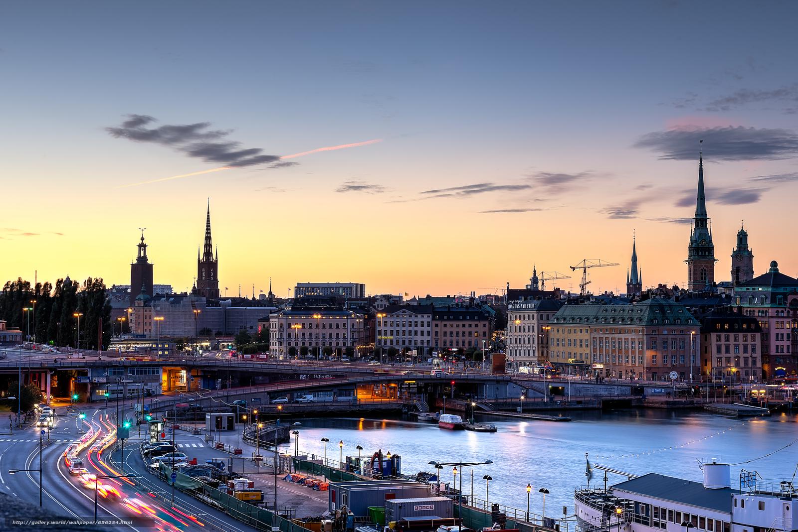 scaricare gli sfondi Stoccolma,  Svezia,  città Sfondi gratis per la risoluzione del desktop 7372x4920 — immagine №656254