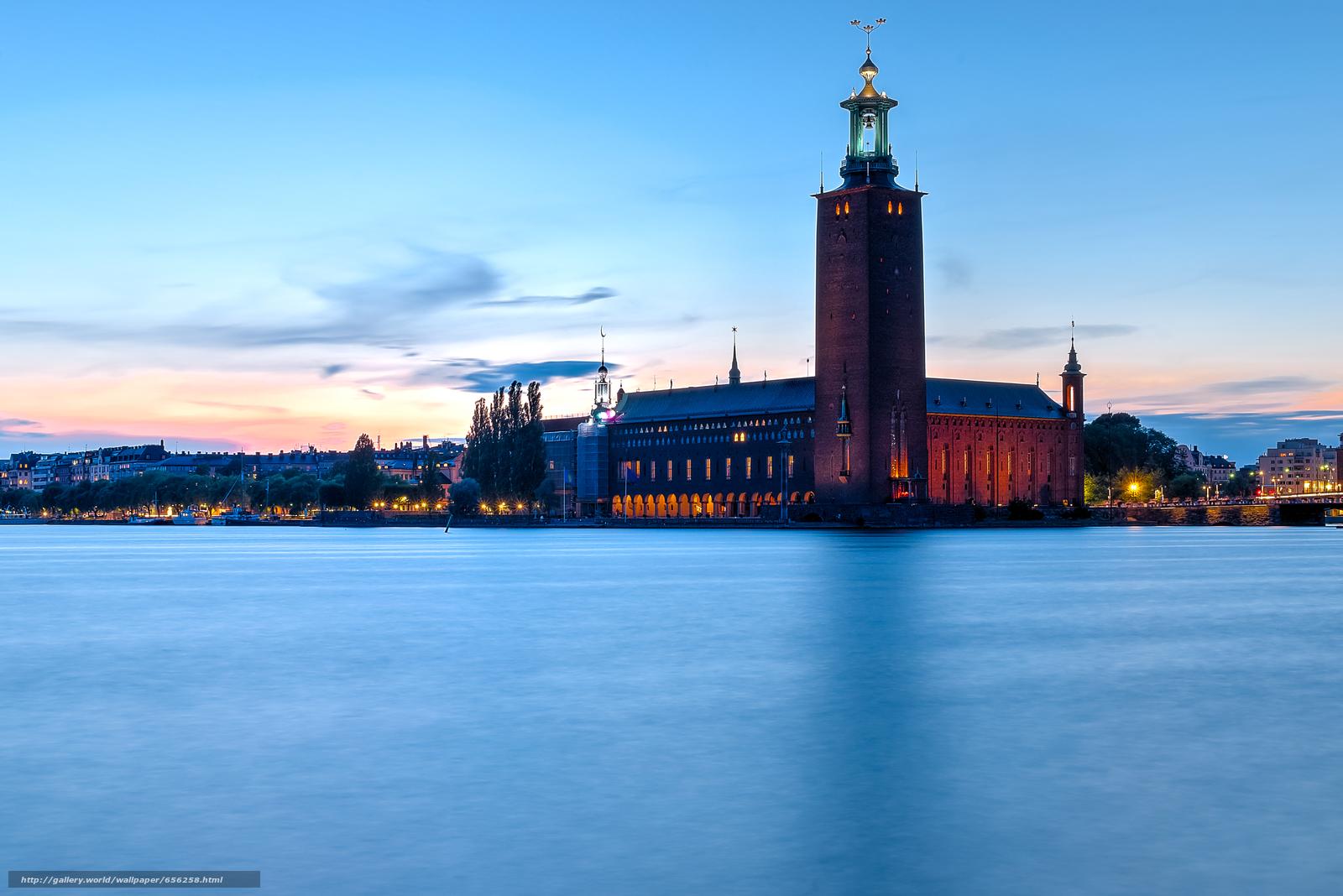 壁紙をダウンロード ストックホルム,  スウェーデン,  都市 デスクトップの解像度のための無料壁紙 6016x4016 — 絵 №656258