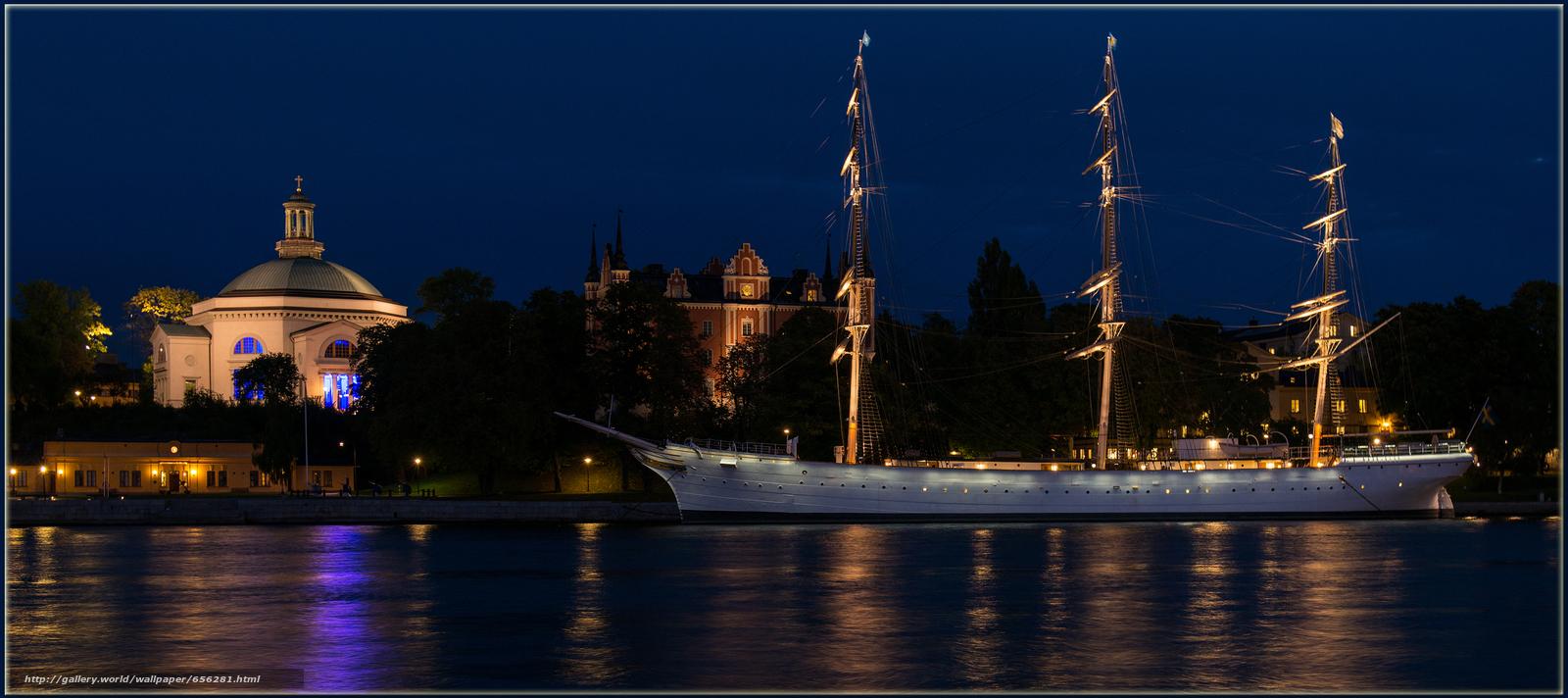 Download wallpaper Stockholm,  Sweden,  city free desktop wallpaper in the resolution 2975x1323 — picture №656281