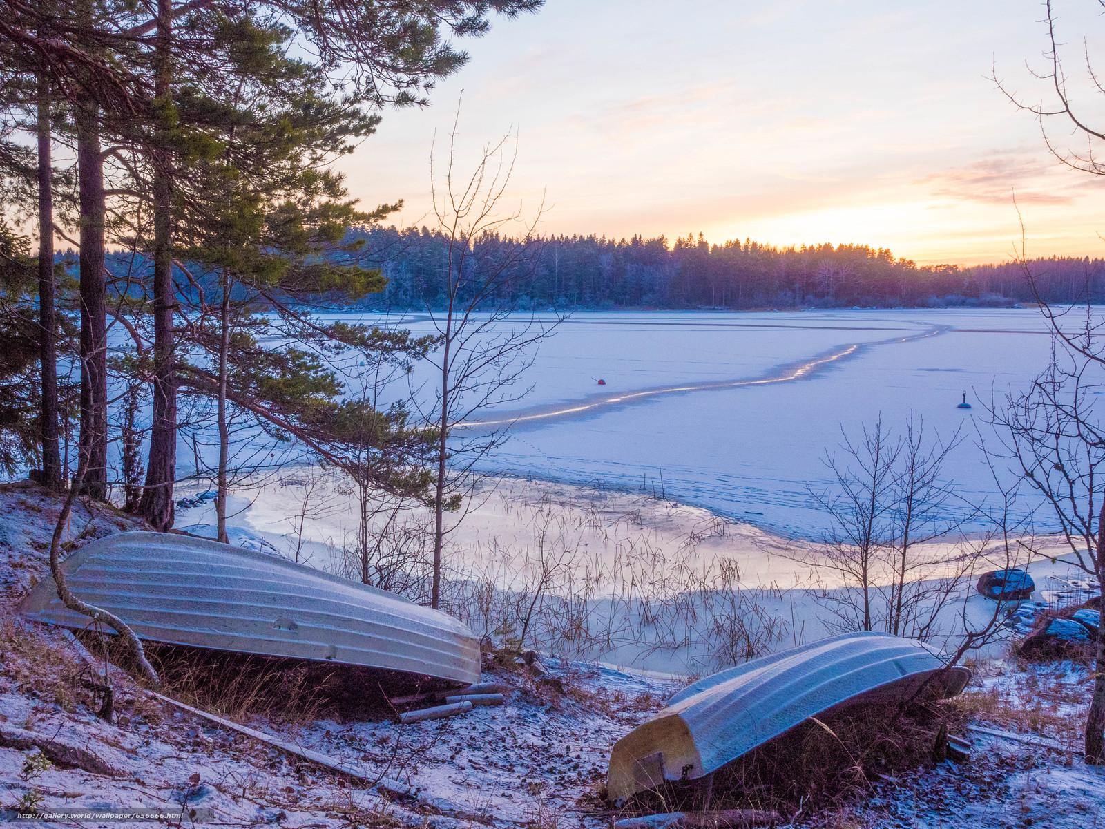 scaricare gli sfondi tramonto,  lago,  alberi,  Imbarcazione Sfondi gratis per la risoluzione del desktop 4608x3456 — immagine №656666