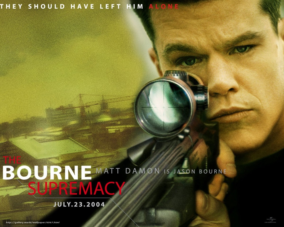 Download wallpaper The Bourne Supremacy,  The Bourne Supremacy,  film,  movies free desktop wallpaper in the resolution 1280x1024 — picture №6567