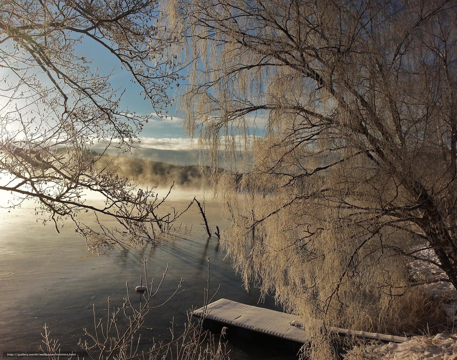 Baixar Wallpaper lagoa,  pôr do sol,  árvores,  inverno Papis de parede grtis na resoluo 2048x1613 — quadro №656964