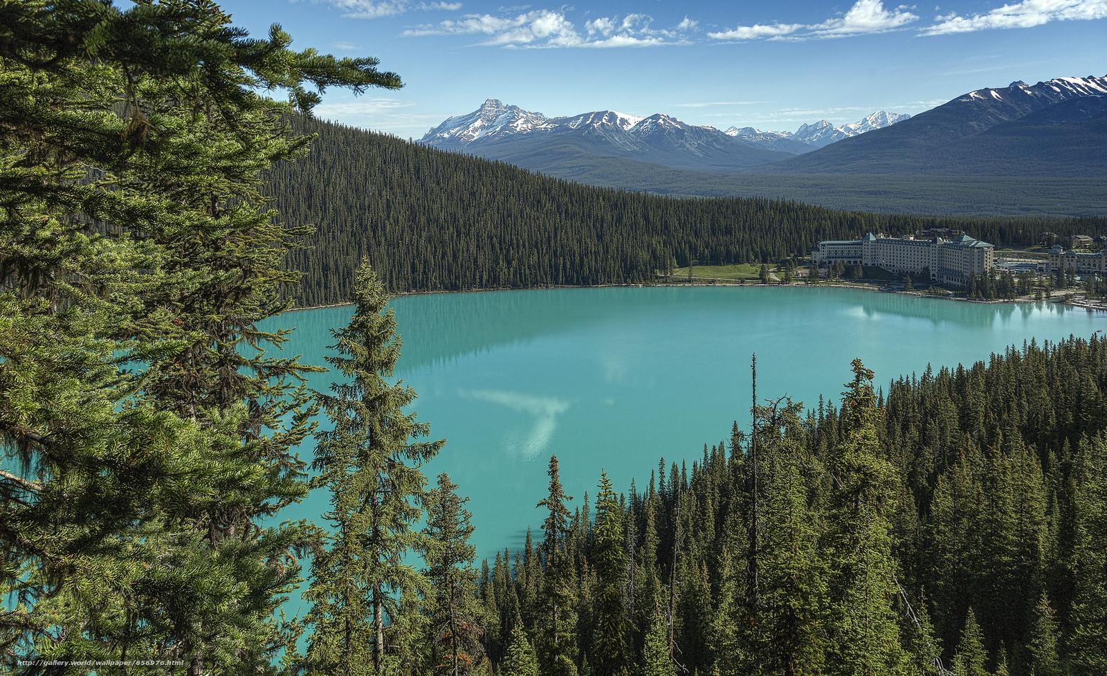 scaricare gli sfondi Lake Louise,  Parco Nazionale di Banff,  Alberta,  Canada Sfondi gratis per la risoluzione del desktop 2048x1250 — immagine №656976