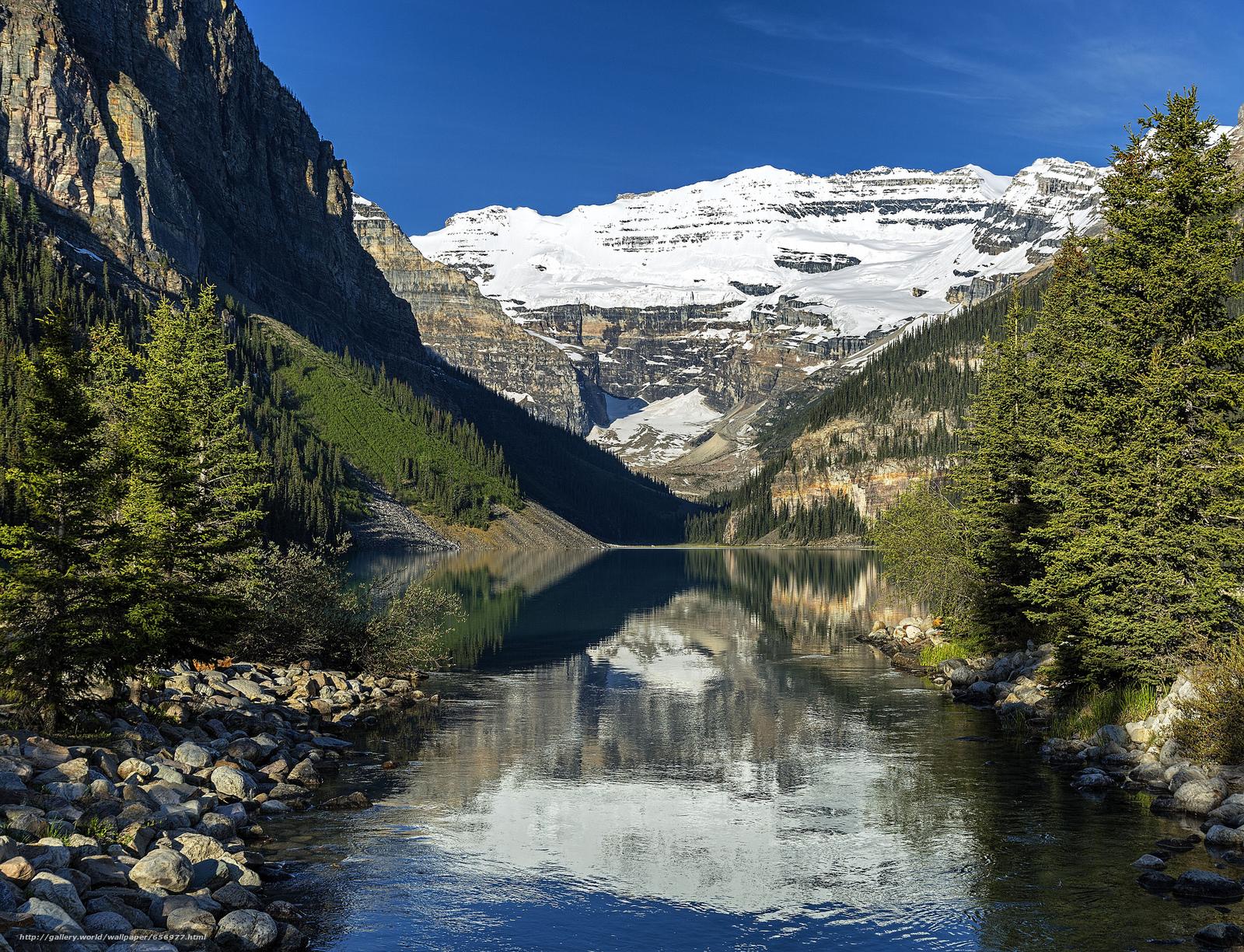 scaricare gli sfondi Lake Louise,  Parco Nazionale di Banff,  Alberta,  Canada Sfondi gratis per la risoluzione del desktop 2048x1567 — immagine №656977