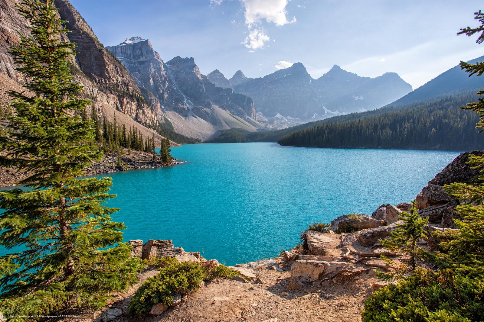 Download Hintergrund Moraine Lake,  Banff National Park,  Alberta,  Kanada Freie desktop Tapeten in der Auflosung 2048x1365 — bild №656981