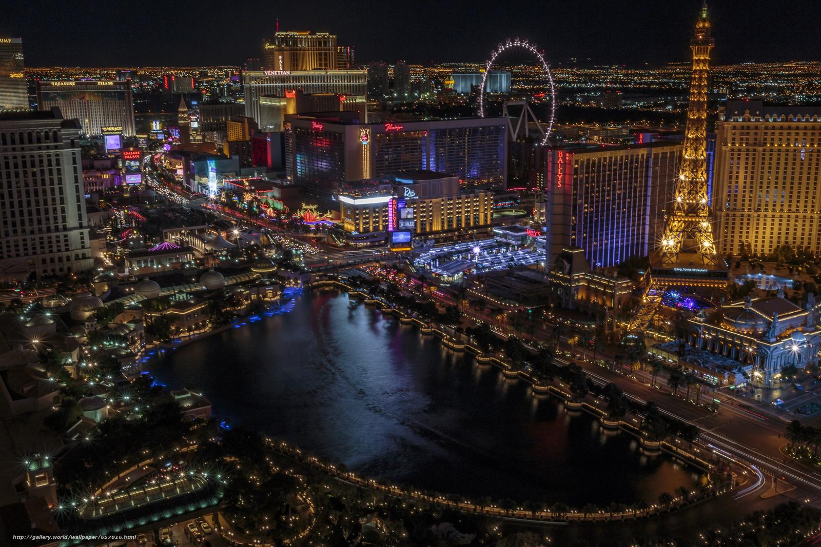 scaricare gli sfondi Las Vegas,  Nevada,  USA,  notte Sfondi gratis per la risoluzione del desktop 5472x3648 — immagine №657016