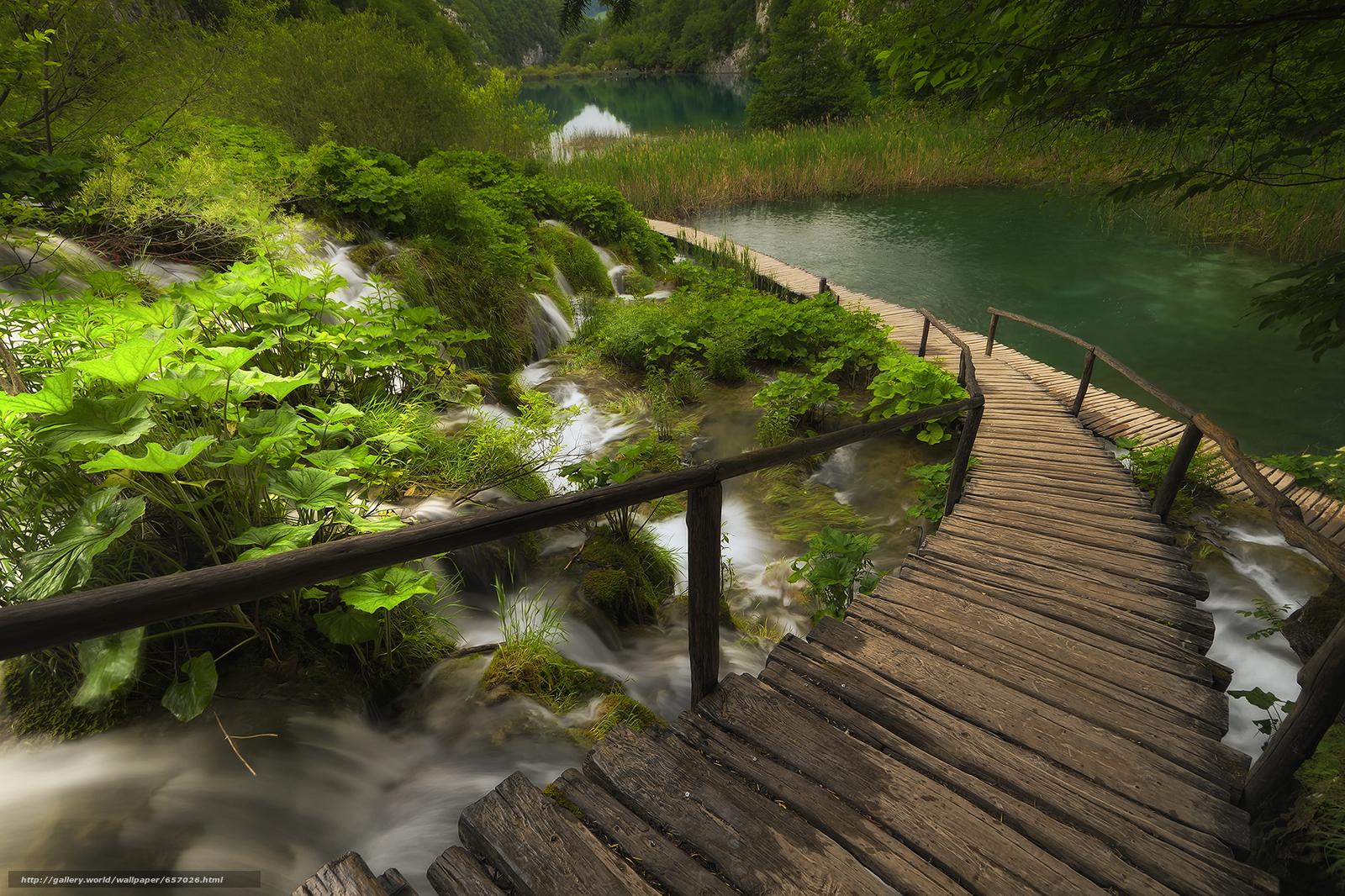 scaricare gli sfondi Plitvice Lakes National Park,  croazia,  cascata Sfondi gratis per la risoluzione del desktop 1920x1279 — immagine №657026