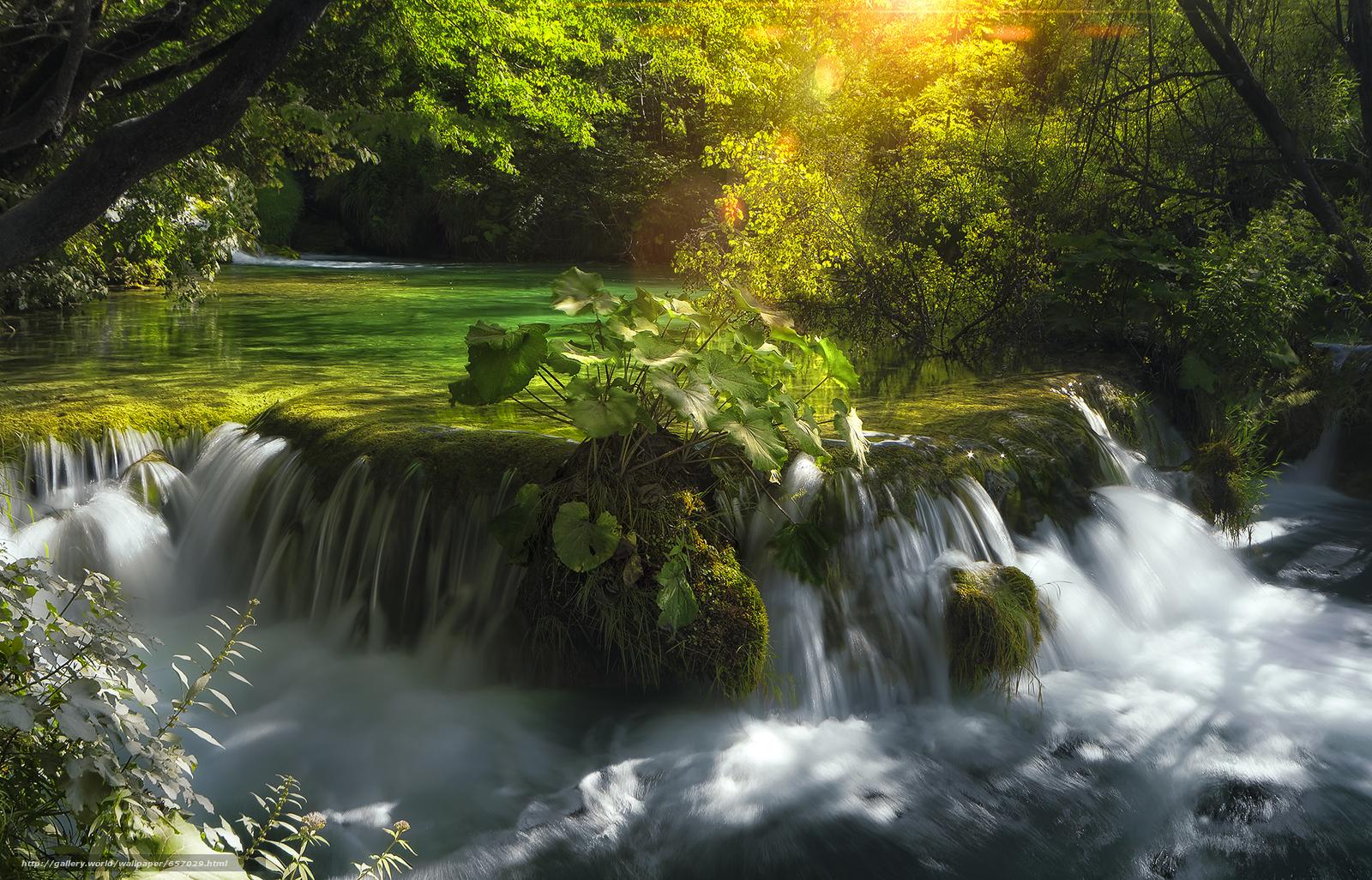 scaricare gli sfondi Plitvice Lakes National Park,  croazia,  cascata Sfondi gratis per la risoluzione del desktop 2048x1313 — immagine №657029