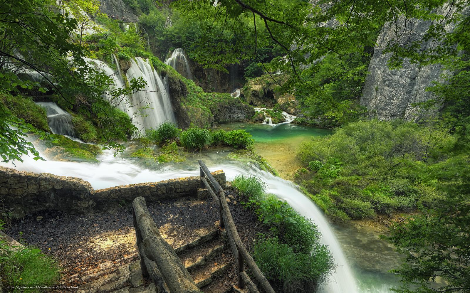 scaricare gli sfondi Plitvice Lakes National Park,  croazia,  cascata Sfondi gratis per la risoluzione del desktop 2048x1277 — immagine №657030