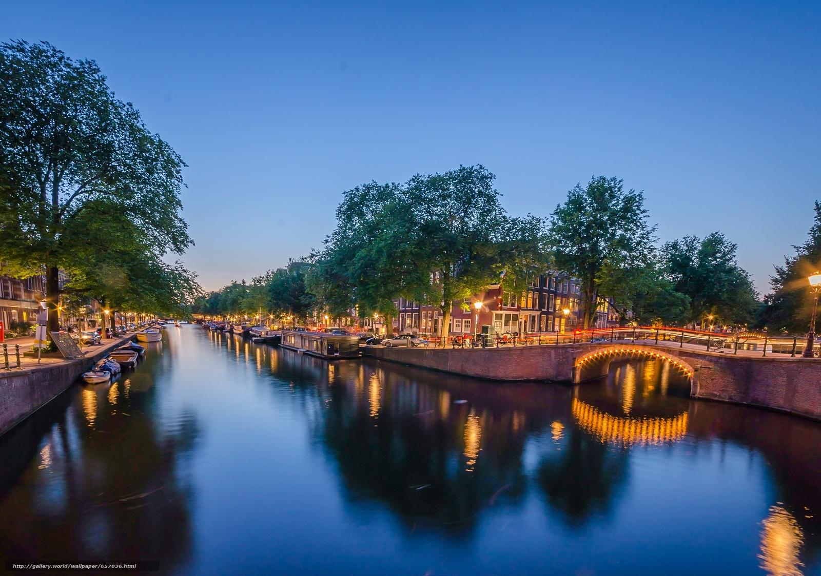 Скачать обои Amsterdam,  Амстердам,  столица и крупнейший город Нидерландов,  Нидерланды бесплатно для рабочего стола в разрешении 2272x1596 — картинка №657036