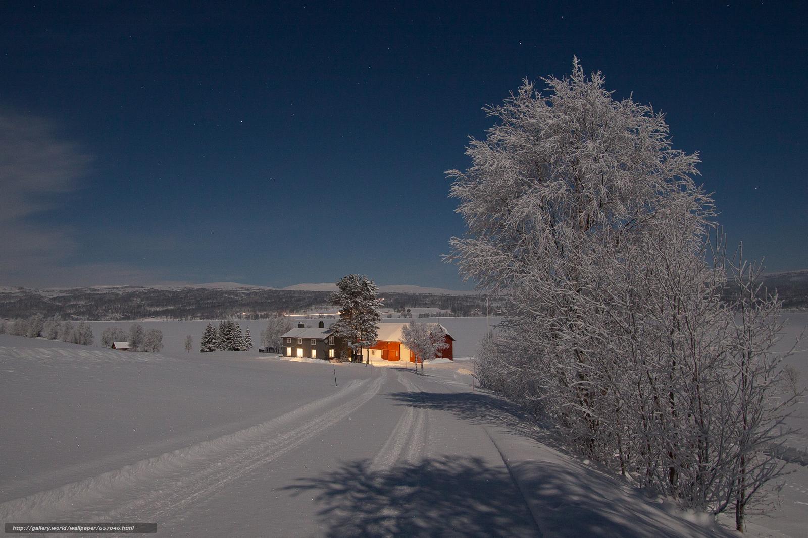 Tlcharger Fond d'ecran hiver,  route,  arbres,  maison Fonds d'ecran gratuits pour votre rsolution du bureau 4123x2749 — image №657046