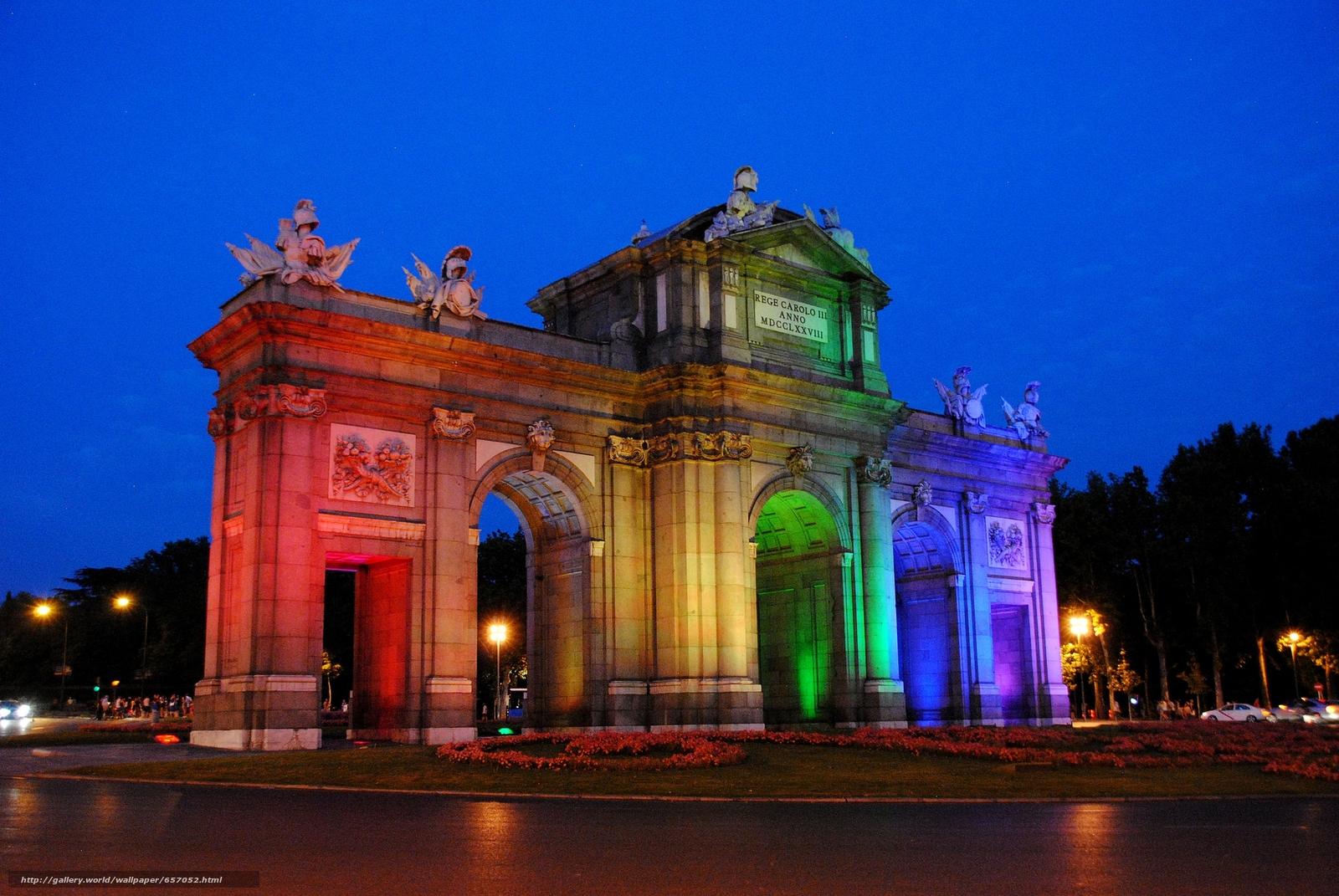scaricare gli sfondi Puerta de Alcalá,  Madrid,  città Sfondi gratis per la risoluzione del desktop 2048x1371 — immagine №657052