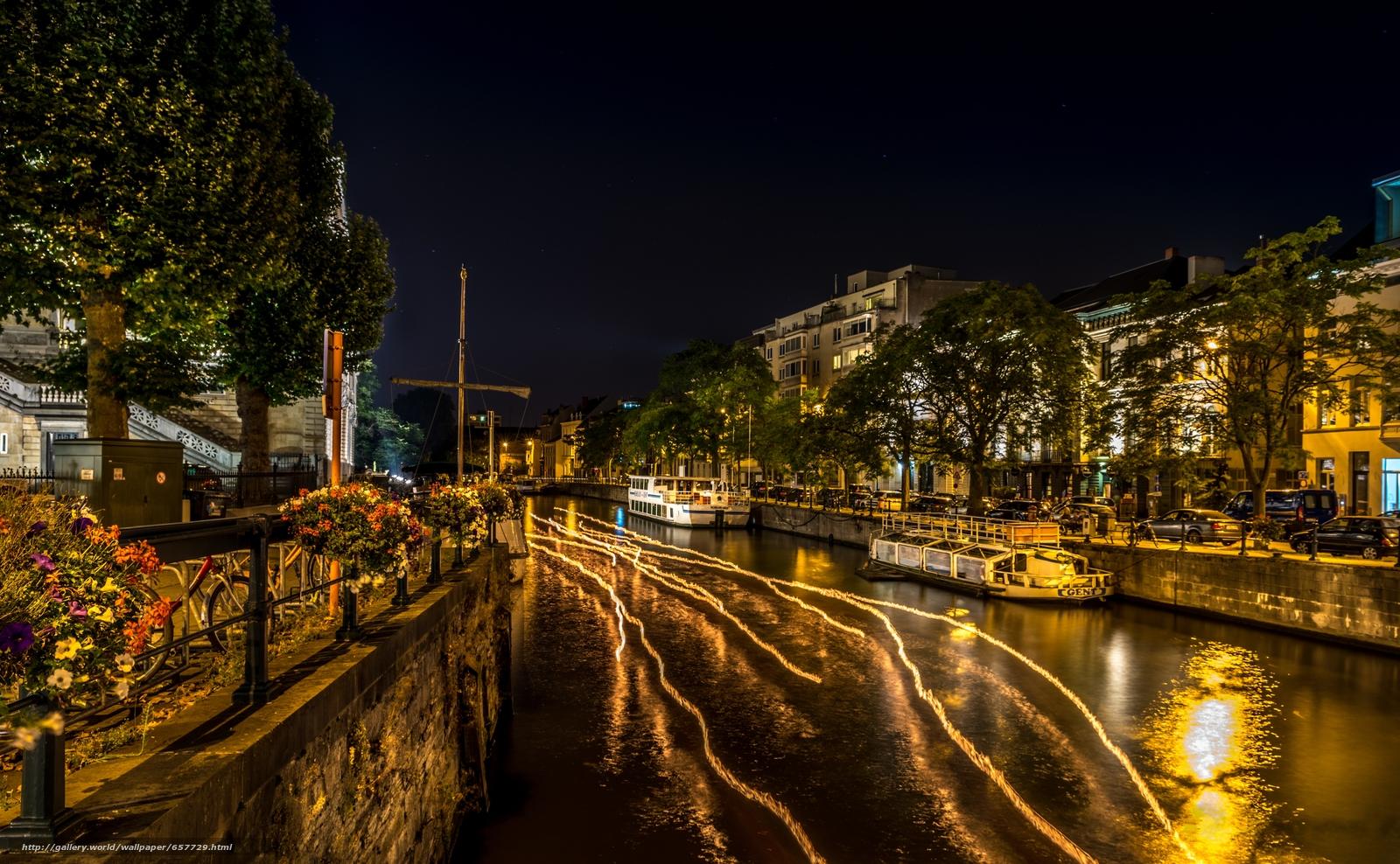 Скачать обои Groningen,  Гронинген,  Нидерланды,  ночь бесплатно для рабочего стола в разрешении 6016x3715 — картинка №657729