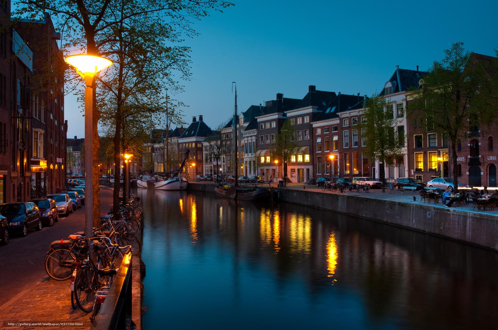Скачать обои Groningen,  Гронинген,  Нидерланды,  ночь бесплатно для рабочего стола в разрешении 4288x2848 — картинка №657730
