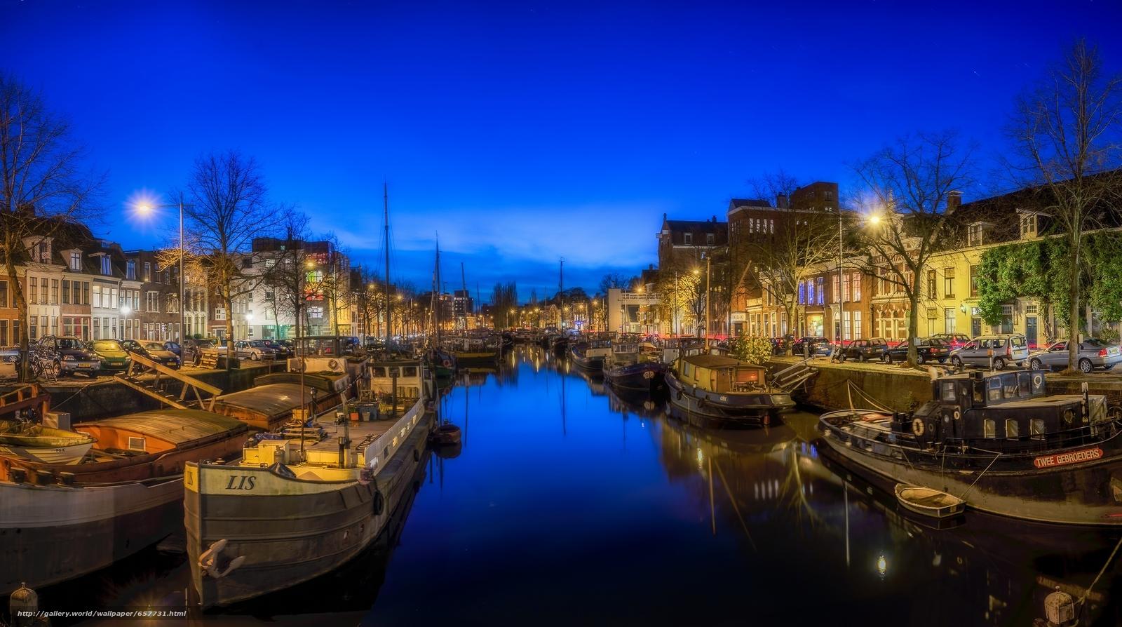 Tlcharger Fond d'ecran Groningen,  Groningen,  Pays-Bas,  nuit Fonds d'ecran gratuits pour votre rsolution du bureau 2048x1144 — image №657731