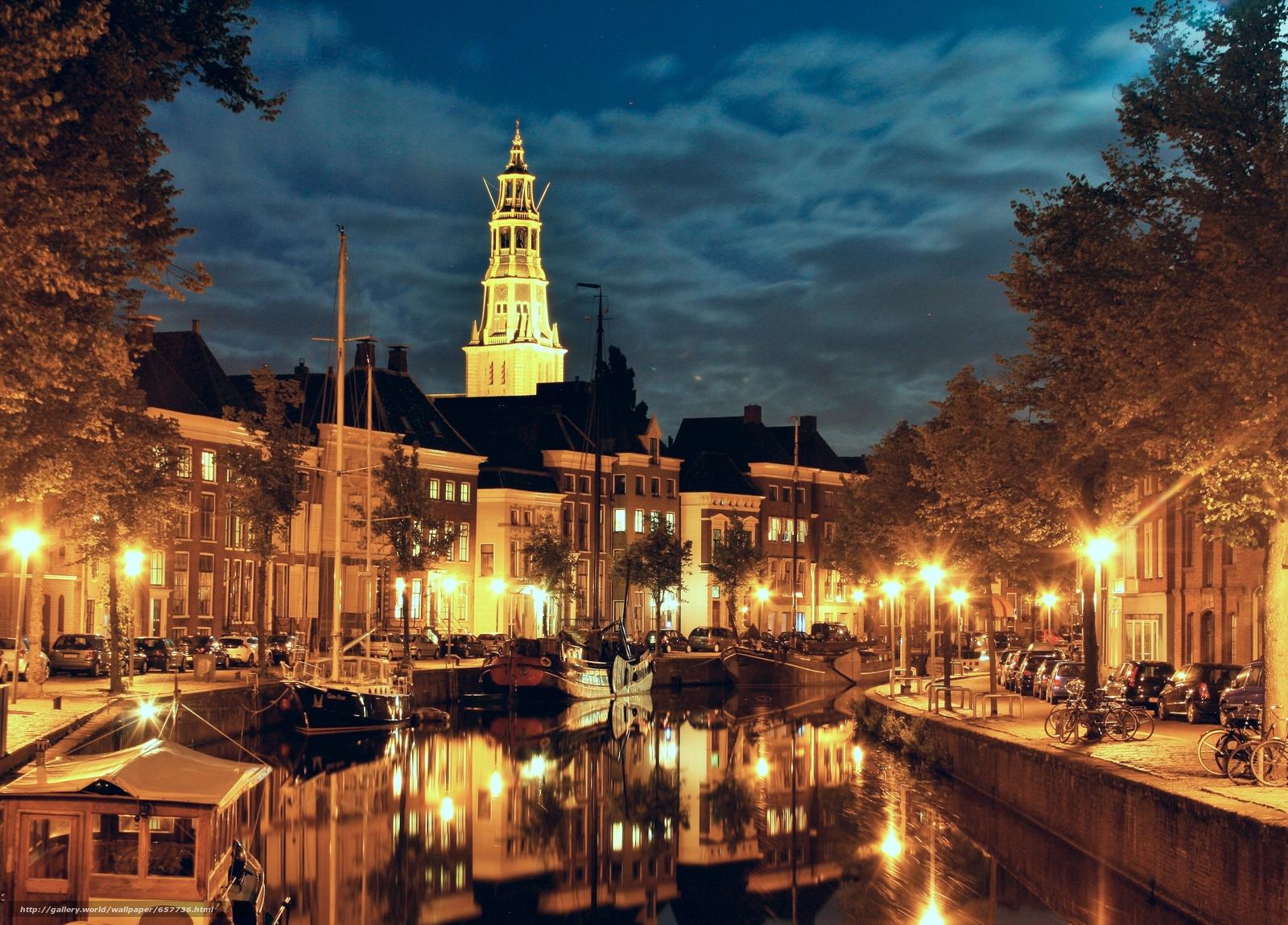 Download wallpaper Groningen,  Groningen,  Netherlands,  night free desktop wallpaper in the resolution 3605x2592 — picture №657736