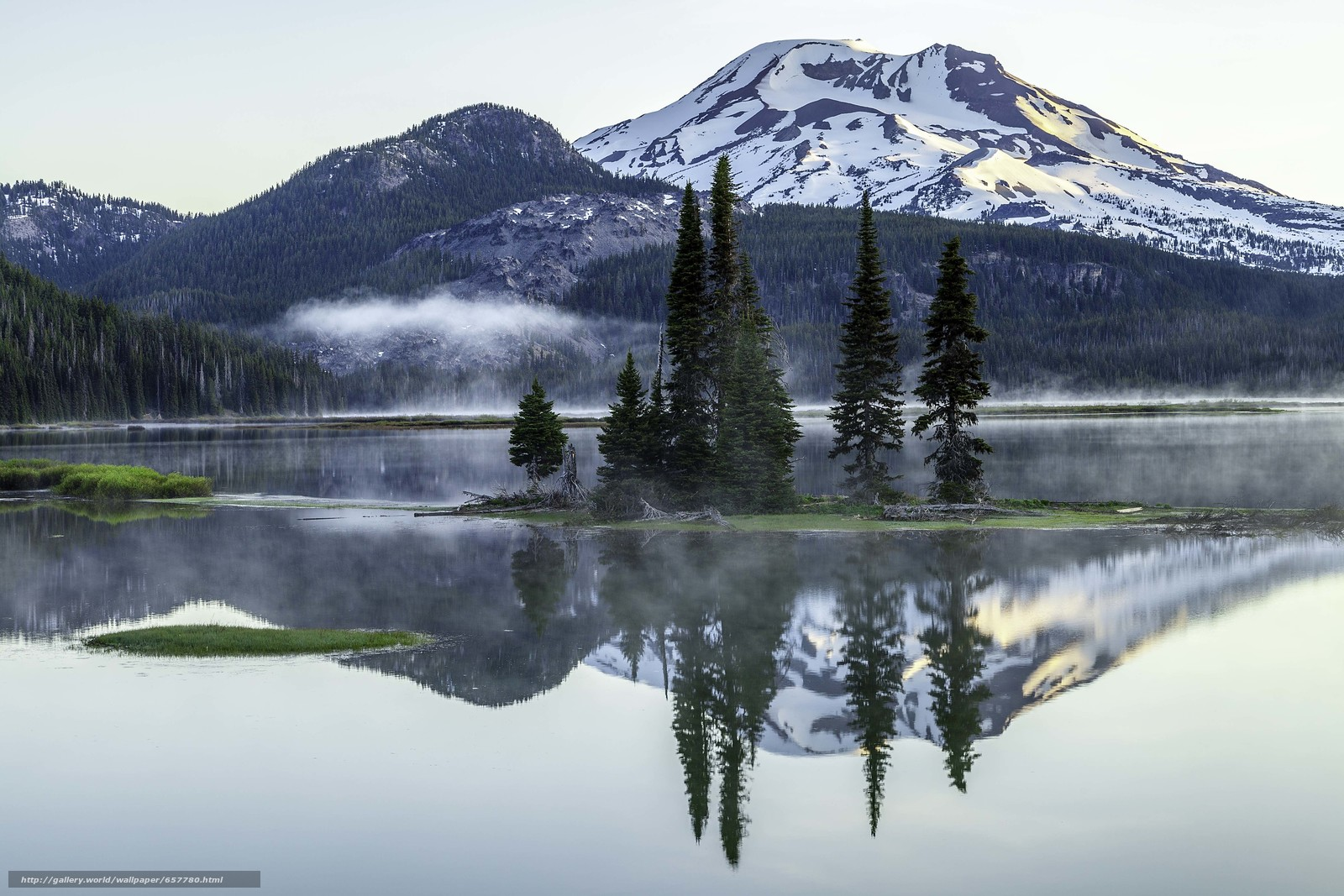 Download wallpaper Sparks lake,  Deschutes County,  Oregon,  lake free desktop wallpaper in the resolution 5616x3744 — picture №657780