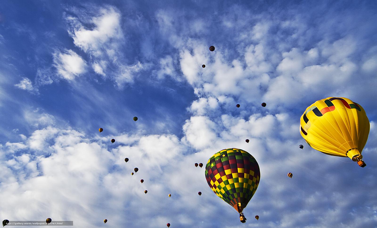 scaricare gli sfondi Balloon Fiesta,  cielo,  Palloncini Sfondi gratis per la risoluzione del desktop 4872x2958 — immagine №657787