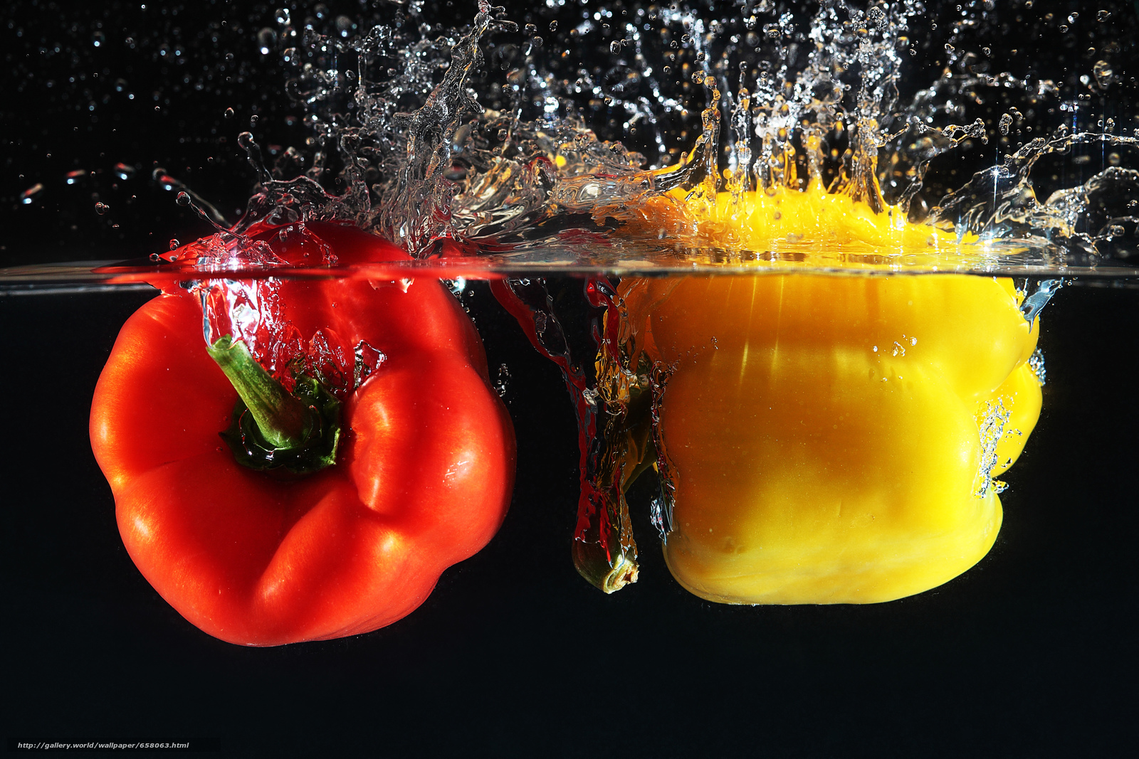 Download wallpaper pepper,  vegetables,  peppers,  water free desktop wallpaper in the resolution 4818x3212 — picture №658063