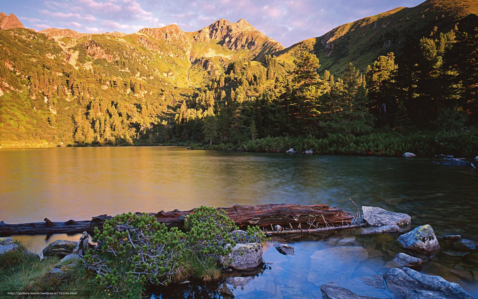 scaricare gli sfondi Austria,  Alpi,  fiume Sfondi gratis per la risoluzione del desktop 1920x1200 — immagine №71246