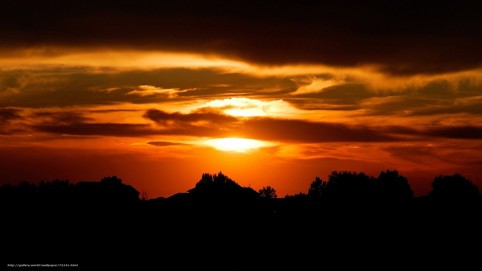 Descargar gratis puesta del sol,  cielo,  Siluetas Fondos de escritorio en la resolucin 1920x1080 — imagen №72191