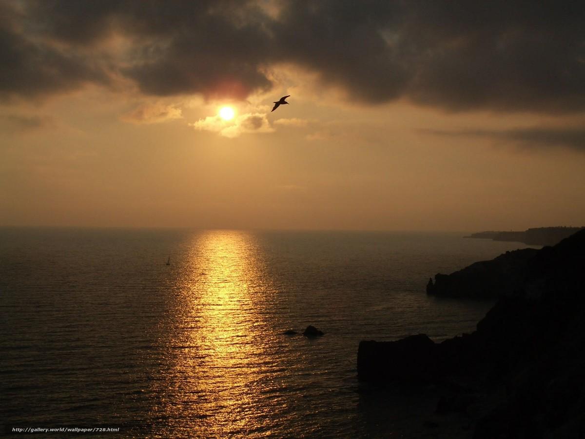 Скачать обои ночь,  солнце,  закат бесплатно для рабочего стола в разрешении 1600x1200 — картинка №728