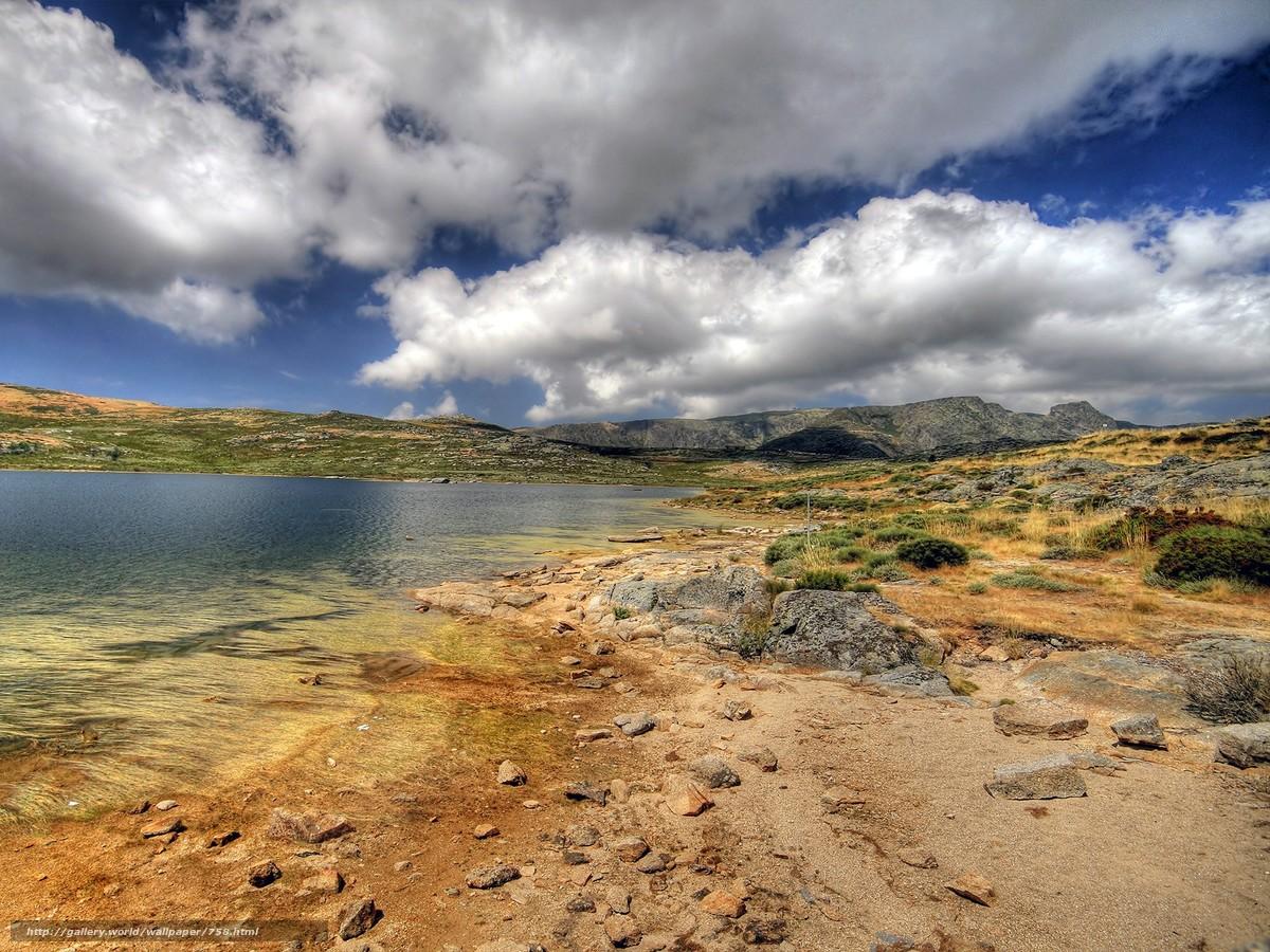 Скачать обои вода,  песок,  небо бесплатно для рабочего стола в разрешении 1600x1200 — картинка №758