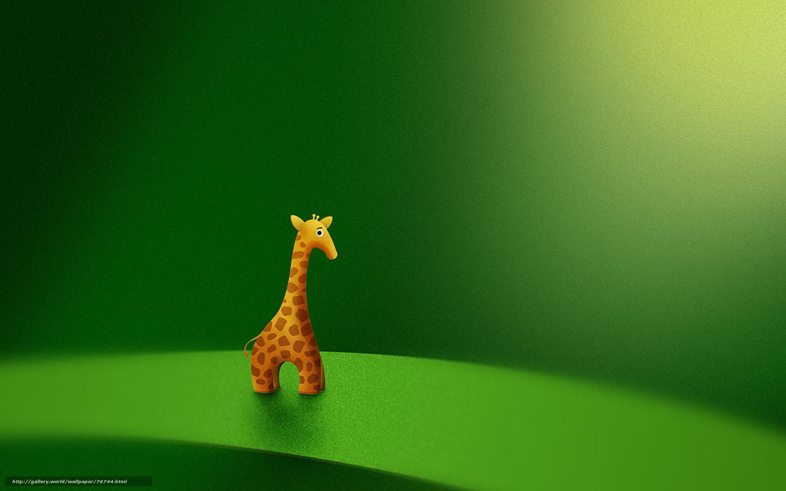 壁紙をダウンロード 緑の背景 キリン おもちゃ デスクトップの解像度のための無料壁紙 2560x1600 絵